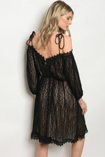 BLACK NUDE DRESS D1256738