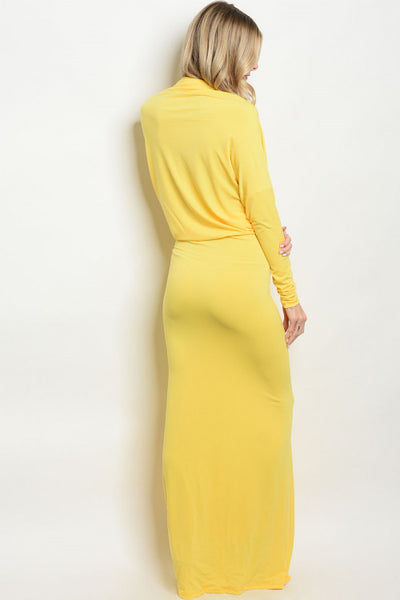 YELLOW DRESS D0051