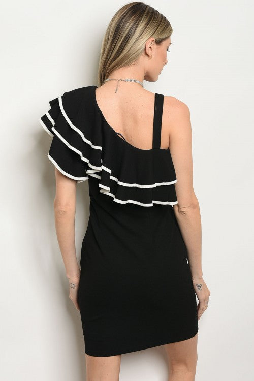 BLACK WHITE DRESS DID71684