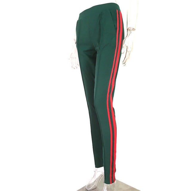 Casual High Striped Sporting Pant