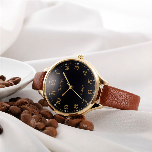 Elegant High Quality Geneva Quartz Watch
