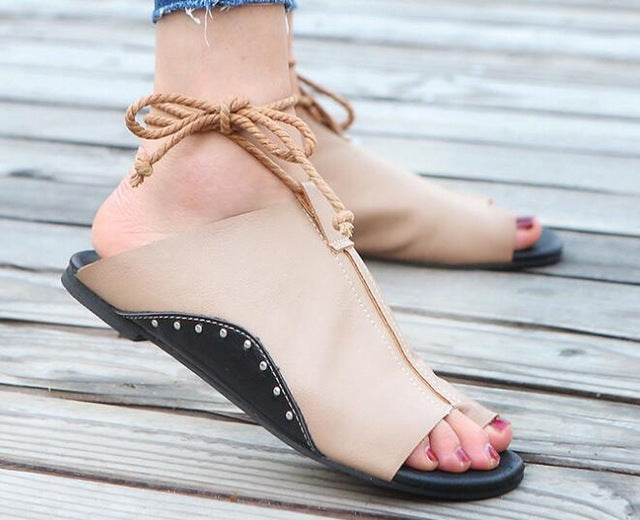 Casual Ankle Strap Flats Sandals