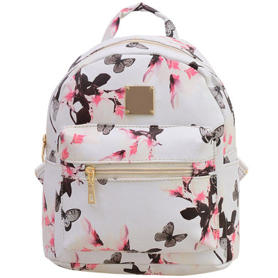 Floral Wind Printing Student Backpack
