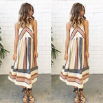 Casual Striped Retro Sleeveless Dress