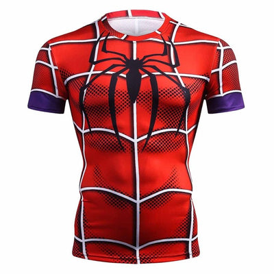 Casual Superhero Spiderman Fitness Shirt