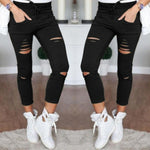 Casual Holes Destroyed Knee Jeans