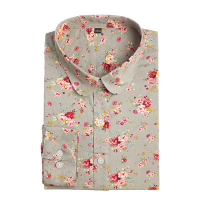 Elegant Turn Down Collar Shirt