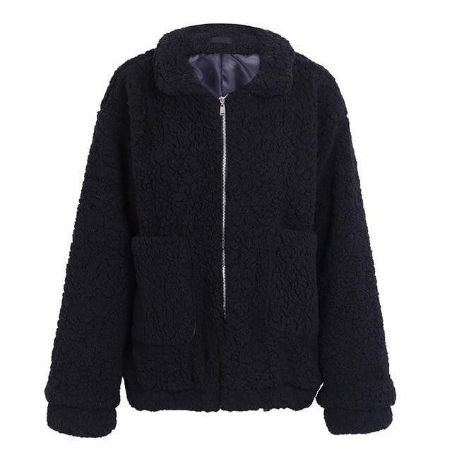 Winter black warm  jacket