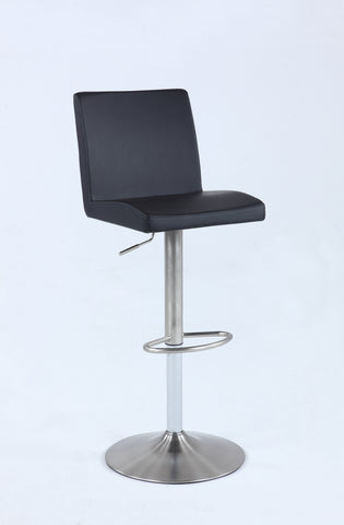 Chintaly 0162-AS-BLK Pneumatic swivel low back stool