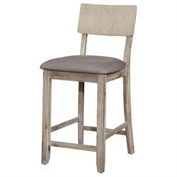 Linon 017101GWSH01U Jordan Gray Wash Counter Stool