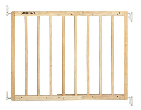 Storkcraft 01720-305 Wooden Essentials Ez-Thru Safety Gate-Natural - Peazz.com