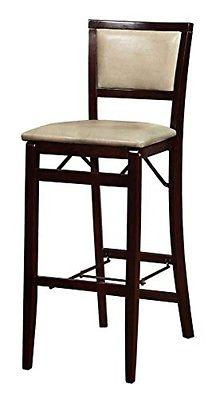 Linon 01832MAN01ASU Triena Jute Pad Back Folding Bar Stool
