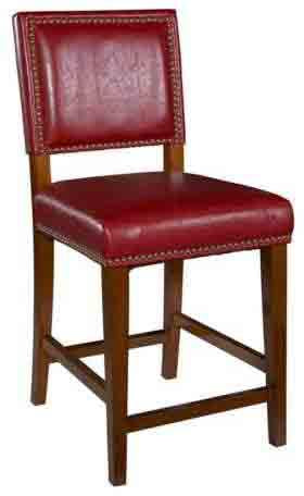 Linon 0232RED-01-KD-U Brook Red Counter Stool