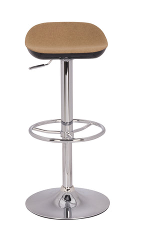 Chintaly 0324-AS-CML Two Tones Backless Adjustable Stool