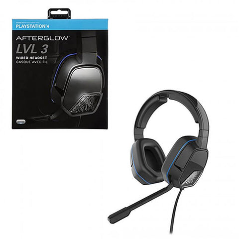 PS4 Afterglow LVL3 Wired Black Headset (051-032)