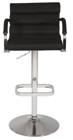 Chintaly 0661-AS-BLK Pneumatic Gas Lift Swivel Height Stool