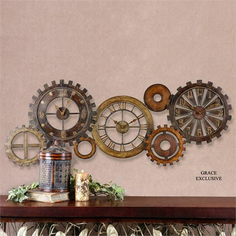Uttermost Spare Parts Wall Clock (06788) - UTMDirect