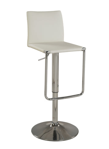 Chintaly 0801-AS-WHT Low Back Pneumatic Stool