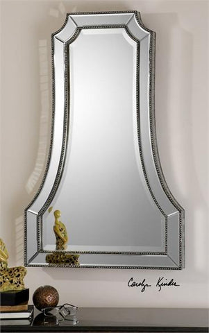 Uttermost Cattaneo Silver Beaded Mirror (08077) - UTMDirect