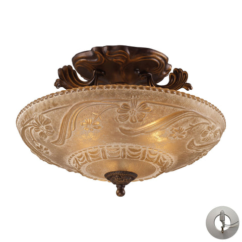 ELK Lighting 08101-AGB-LA Restoration Flushes Collection Golden Bronze Finish - PeazzLighting
