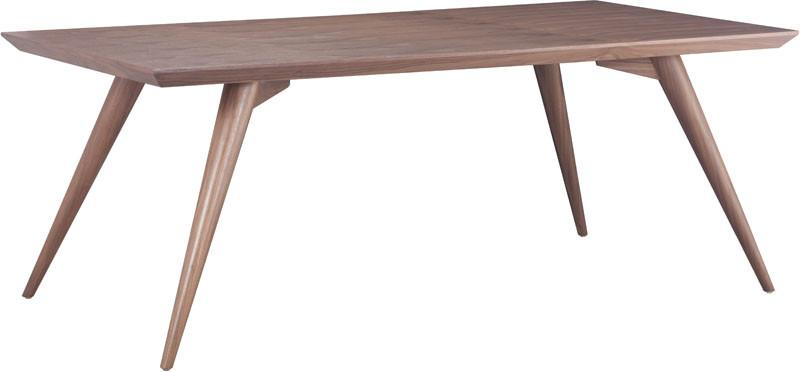 Zuo Dining Table Color Walnut Solid Wood Stockholm