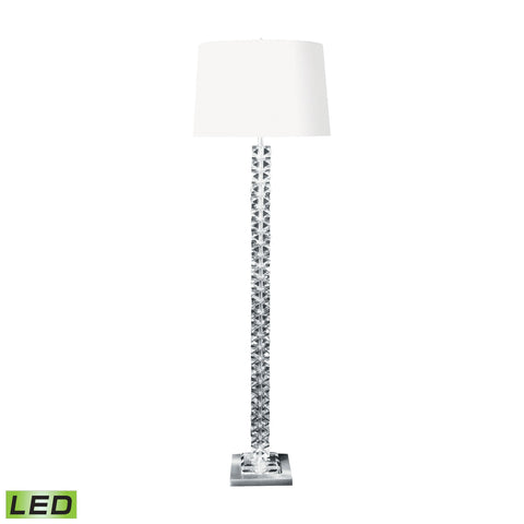 Lamp Works LAM-10005-LED Crystal Collection Clear Finish Floor Lamp