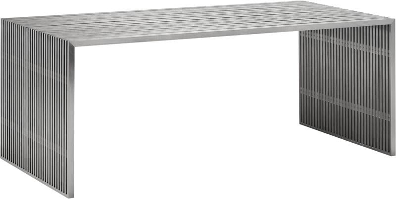 Zuo Dining Table Color Brushed Stainless Steel Brushed Stainless Steel Novel
