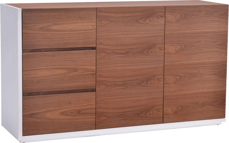Zuo Buffet Color Walnut White Mdf Saints