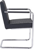 Zuo Modern 100189 Quilt Dining Chair Color Black Chromed Steel Finish - Peazz.com - 2