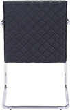 Zuo Modern 100189 Quilt Dining Chair Color Black Chromed Steel Finish - Peazz.com - 4