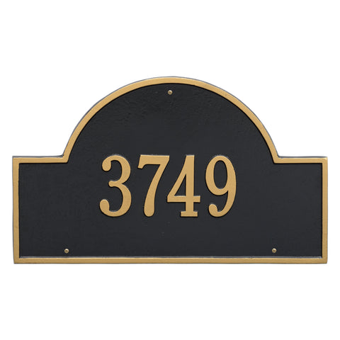 Arch Marker - Estate Wall - One Line - BG - Black/Gold