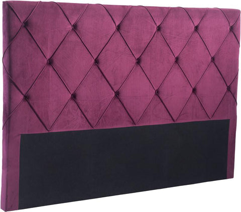 Zuo Modern 100227 Matias Headboard (King) Color Wine Velvet Plywood Finish - Peazz.com - 1