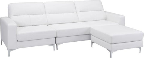 Zuo Modern 100233 Versa Sectional Color White PVC, Wood, Steel Finish - Peazz.com - 1