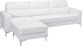 Zuo Modern 100233 Versa Sectional Color White PVC, Wood, Steel Finish - Peazz.com - 2