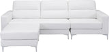 Zuo Modern 100233 Versa Sectional Color White PVC, Wood, Steel Finish - Peazz.com - 4