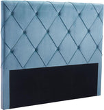 Zuo Modern 100254 Matias Headboard (Queen) Color Polar Blue Velvet Plywood Finish - Peazz.com - 1