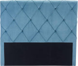 Zuo Modern 100254 Matias Headboard (Queen) Color Polar Blue Velvet Plywood Finish - Peazz.com - 3