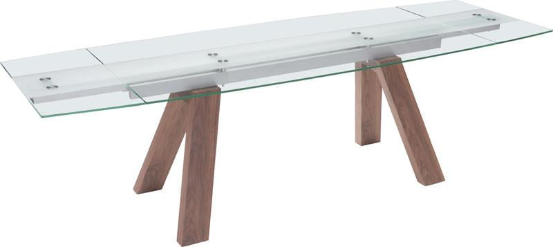 Zuo Dining Extension Table Walnut Aluminum Ash Veneer Mdf Wonder