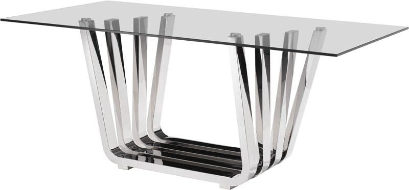 Zuo Dining Table Color Chrome Stainless Steel 3565