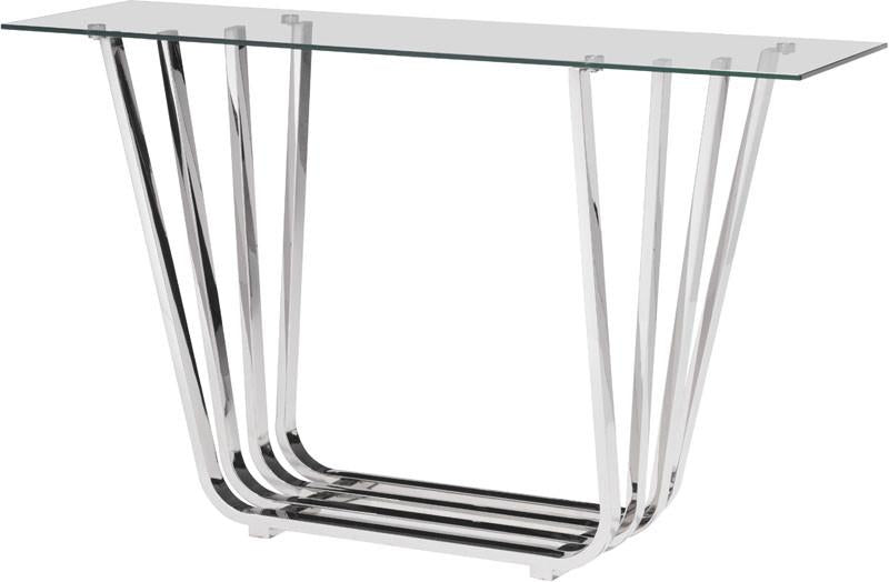 Zuo Console Table Color Chrome Stainless Steel Fan