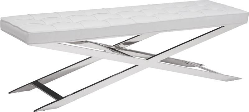 Pontis Bench Color White Polished Stainless Steel 2764 Product Photo