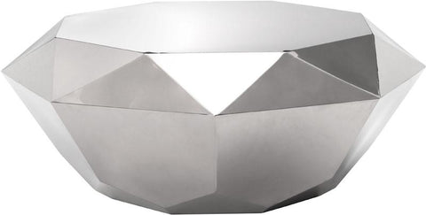 Zuo Modern 100344 Gem Coffee Table Color Stainless Steel Polished Stainless Steel Finish - Peazz.com - 1
