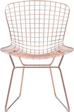 Zuo Modern 100361 Wire Dining Chair Color Rose Gold Chromed Steel Finish - Set of 2 - Peazz.com - 3