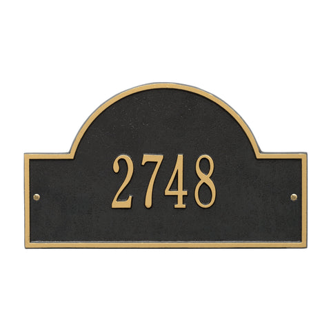 Arch Marker - Standard Wall - One Line - BG - Black/Gold