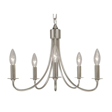 Framburg 1004-PS 5-Light Polished Silver Maisonette Mini Chandelier