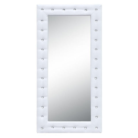 Fine Mod Imports FMI10073-white Tufted Mirror, White - Peazz.com - 1