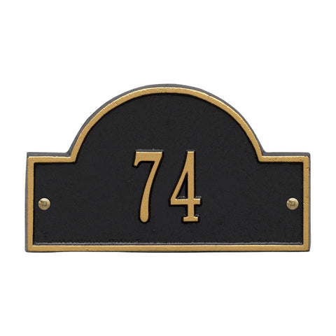 Arch Marker - Petite Wall - One Line - BG -  Black/Gold