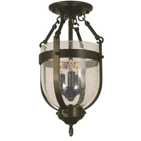 Framburg 1010-AB 3-Light Antique Brass Hannover Flush / Semi-Flush Mount