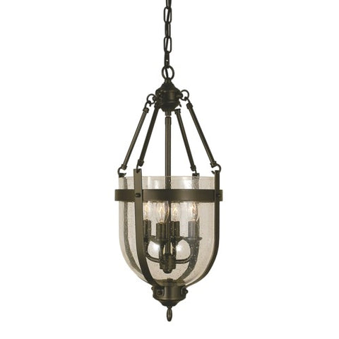 Framburg 1014-AB 4-Light Antique Brass Hannover Mini-Chandelier
