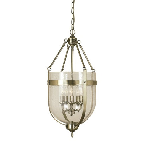 Framburg 1015-AB 5-Light Antique Brass Hannover Dining Chandelier